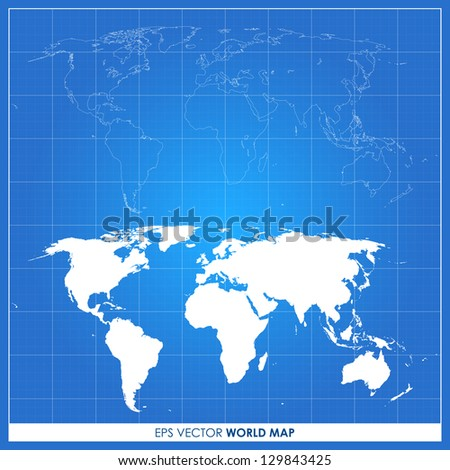 precise world map vector on