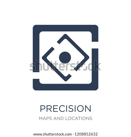 Precision icon. Trendy flat vector Precision icon on white background from Maps and Locations collection, vector illustration can be use for web and mobile, eps10