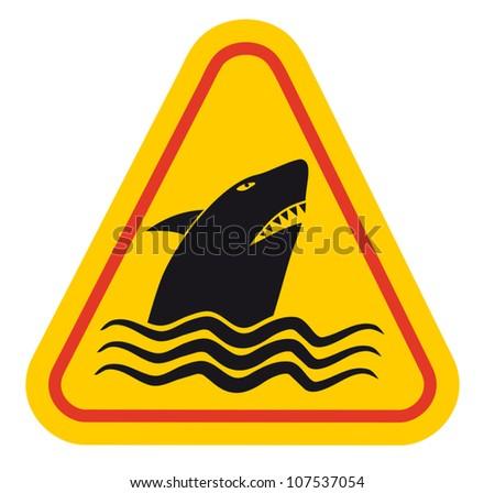 Predator shark sign Stock photo ©