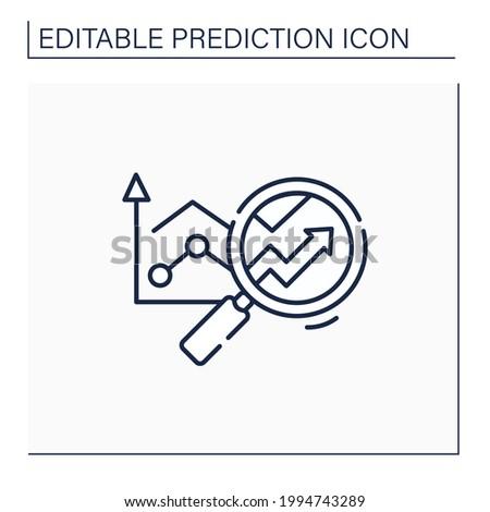 Predictive analytics line icon. Future forecasts events. Statistics. Careful research. Business predicting concept.Isolated vector illustration.Editable stroke ストックフォト ©