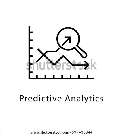 Predictive Analytics Vector Line Icon  ストックフォト ©