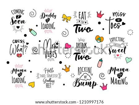 pregnancy mama mother quote set