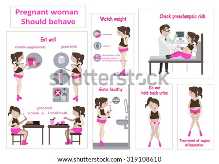 pregnancy woman infographic