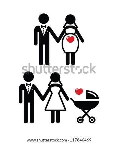 pregnant bride icon   bride