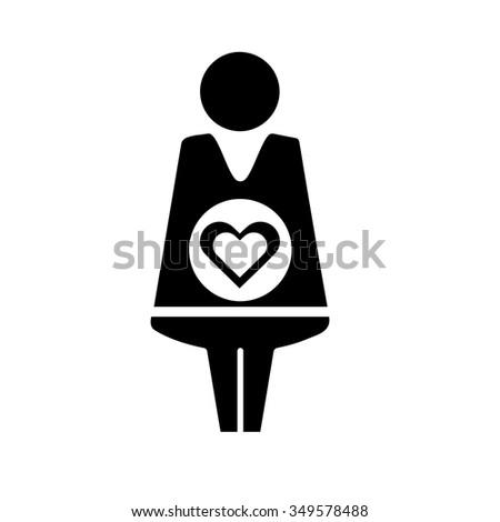 Pregnant sign icon. Pregnancy symbol #349578488