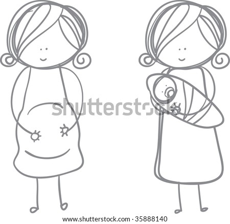 Pregnant Woman and Newborn baby