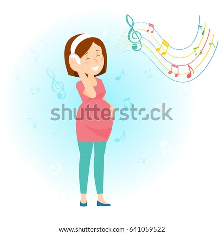 pregnant woman listen to music