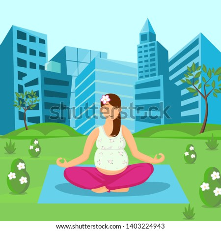 pregnant woman meditating on