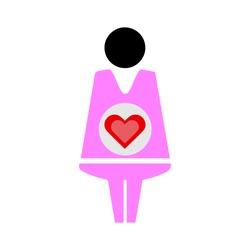 Pregnant woman sign icon. Pregnancy symbol concept