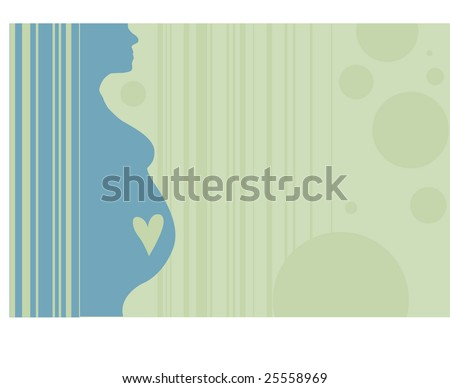 pregnant lady silhouette. stock vector : pregnant woman