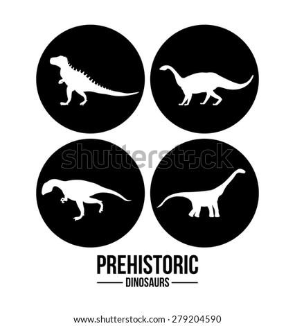 prehistoric design over white