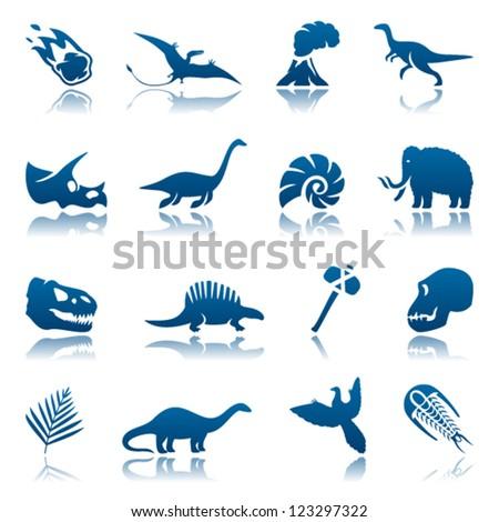 prehistoric icon set