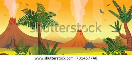 prehistoric nature panorama