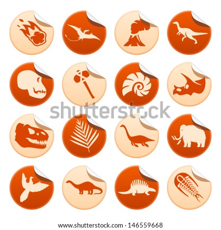prehistoric stickers