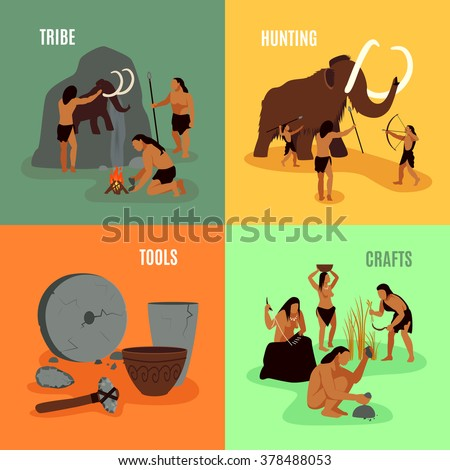 prehistoric stone age caveman