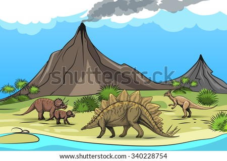 prehistory with dinosaurs