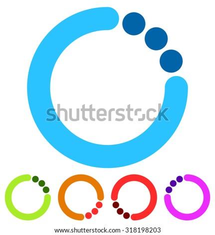 Preloader Or Buffer Shapes, Circular Elements, Symbols. User ...