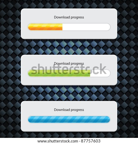 Preloader Progress Web Downloading Bar