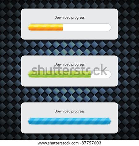 Preloader Progress Web Downloading Bar