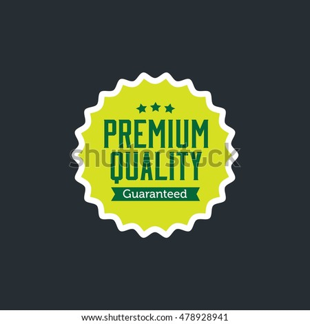 Premium and High Quality label. badge quality vector commercial icon design collection