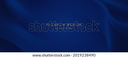 Premium background design with diagonal dark blue line pattern. Vector horizontal template for digital lux business banner, formal invitation, luxury voucher, prestigious gift certificate