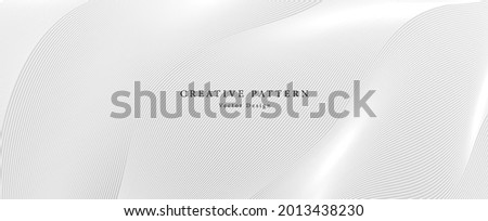 Premium background design with diagonal line pattern in grey colour. Vector white horizontal template for business banner, formal invitation backdrop, luxury voucher, prestigious gift certificate
