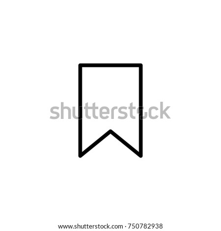 Premium bookmark icon or logo in line style. High quality sign and symbol on a white background. Vector outline pictogram for infographic, web design and app development.
