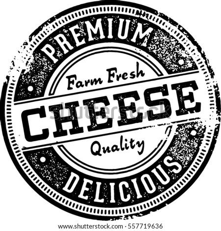 Premium Cheese Vintage Stamp