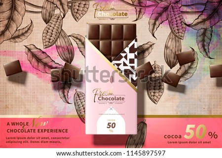 premium chocolate ads with pink