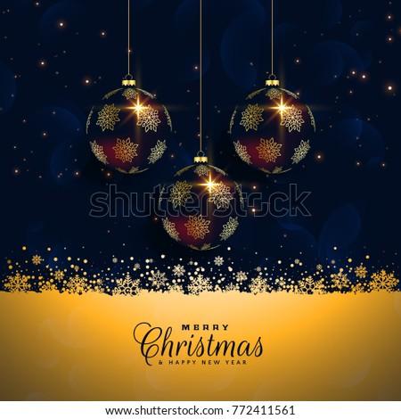 premium christmas balls festival background