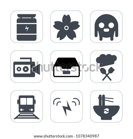 premium fill icons set on white