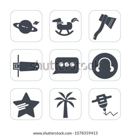 premium fill icons set on white