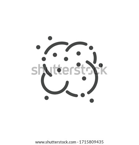 Premium Icon of Dust Cloud. Custom Vector Pictogram for Web and App in Outline Style.  Foto d'archivio ©