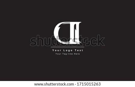 Premium Initial Letter DI logo design. Trendy awesome artistic black and white color. ID DI initial based Alphabet icon logo Foto d'archivio ©