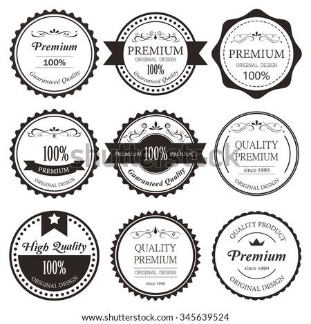 premium label vintage style....