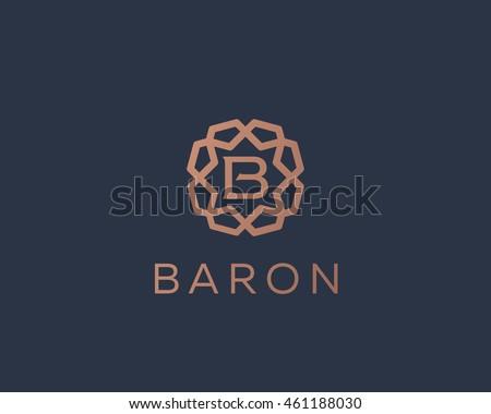 Premium letter B logo icon vector design. Luxury jewelry frame gem edge logotype. Print monogram initials stamp sign symbol.
