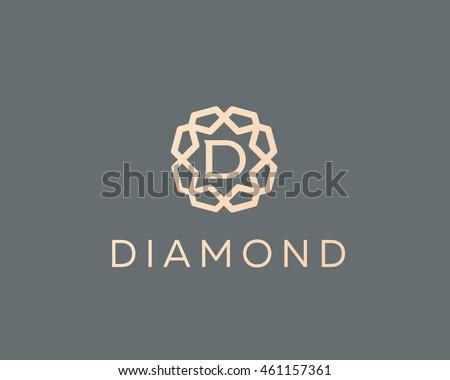 premium letter d logo icon