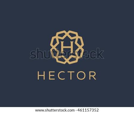 premium letter h logo icon