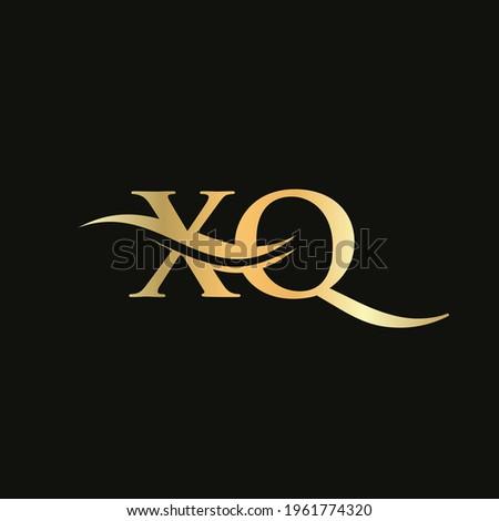 Premium Letter HX Logo Design with water wave concept. HX letter logo design with modern trendy Stock photo ©