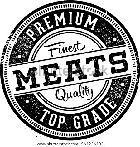 Premium Meats Butcher Shop Stamp