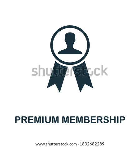 Premium Membership icon. Creative element sign from loyalty program collection. Monochrome Premium Membership icon for templates, infographics and more. Photo stock ©