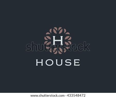 premium monogram letter h