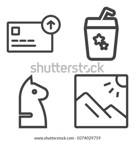 premium outline set containing