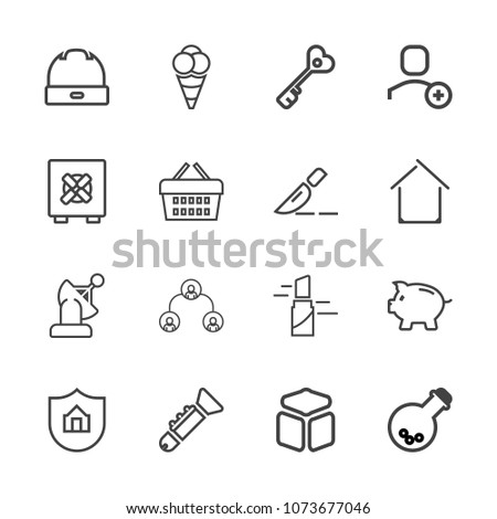 premium outline set of icons