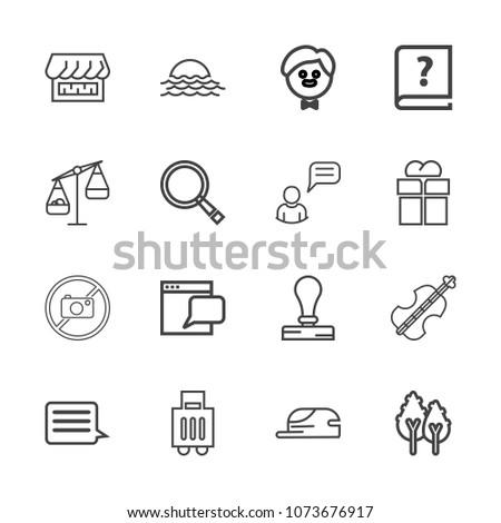 premium outline set of icons