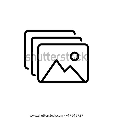 Premium picture icon or logo in line style. High quality sign and symbol on a white background. Vector outline pictogram for infographic, web design and app development.