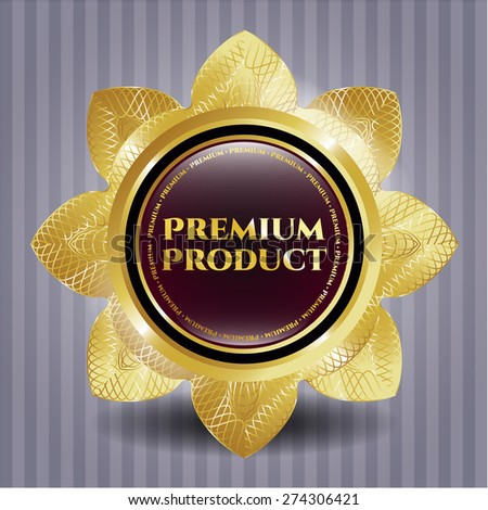 Premium product gold shiny flower