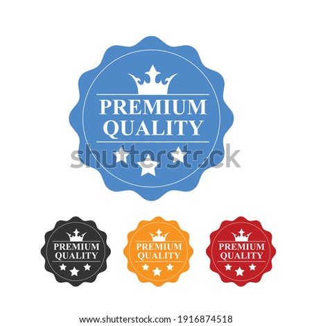 Premium Quality Badge Design icon Vektor ilustration Stock foto ©