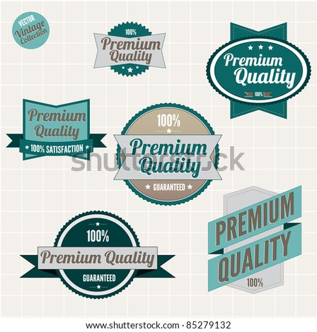 Premium quality badges with retro vintage design