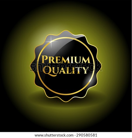 Premium Quality dark badge